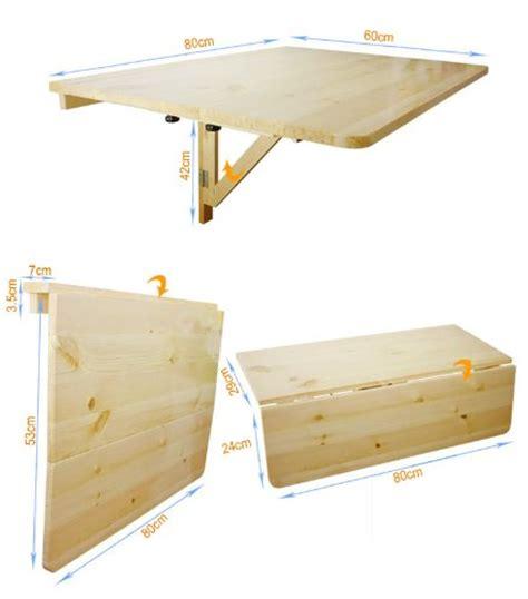 bureau pliable mur sobuy fwt02 w table murale rabattable en bois