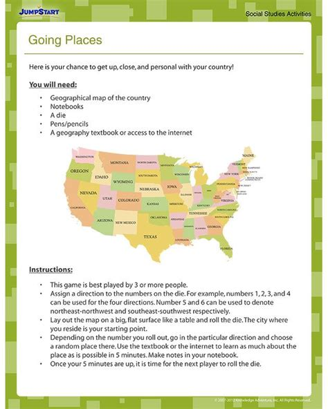4th grade social studies printable worksheets free