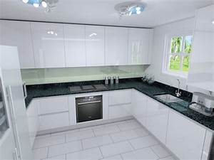 Polar White Lacquer Kitchens from LWK Kitchens