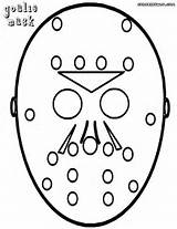 Goalie Mask Coloring Pages Colorings sketch template