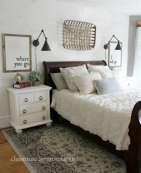 Bed With White Nightstands by Farmhouse Bedroom Makeover White Planked Wall