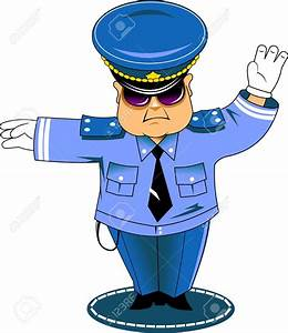 Cop clipart traffic police - Pencil and in color cop ...