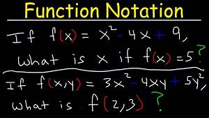 Evaluating Functions Introduction  Algebra 2  Examples And