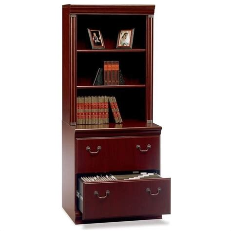 Bookshelf Hutch by Bush Birmingham Lateral File W Hutch Set Bookcase Ebay