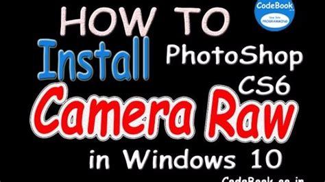 install camera raw  photoshop cs