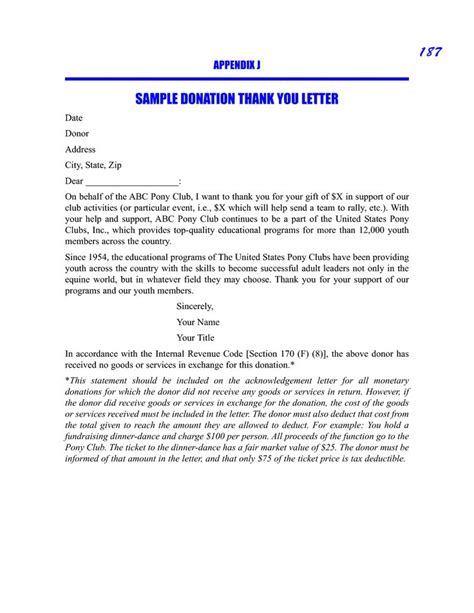 sample donor thank you letter sample donation thank you request letter sample picture