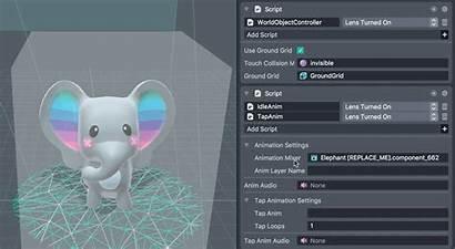 Interactive Tap Animation Template Lens Snapchat Mixer