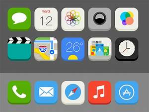 iOS 7 Flat Redesign - Icons Details by Mathieu Hervouët on ...