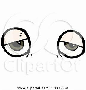 Tired clipart tired eye - Pencil and in color tired ...