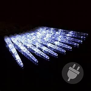 Led Weihnachtsbeleuchtung Außen : 40er led eiszapfenkette lichterkette leuchtfarbe wei mit 8 funktionen f r aussen trafo ~ Frokenaadalensverden.com Haus und Dekorationen