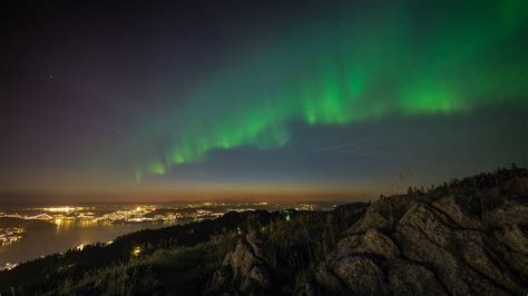 aurora week bergen september  timelapse  uhd