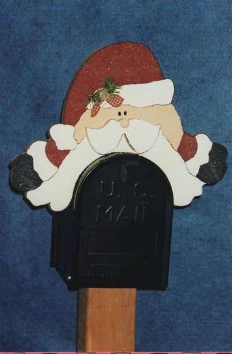 santa mailbox sitter template  christmas yard art
