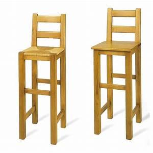 Tabouret De Bar En Bois : tabouret de bar rustique en bois massif ref 431 441 4 pieds tables chaises et tabourets ~ Teatrodelosmanantiales.com Idées de Décoration