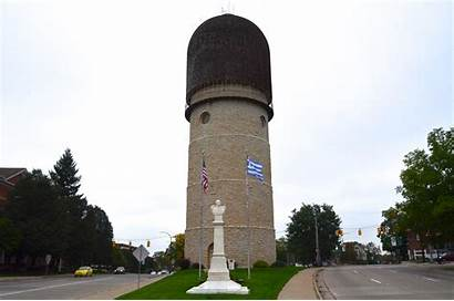 Michigan Ypsilanti Tower Water Attractions Landmarks Mitten