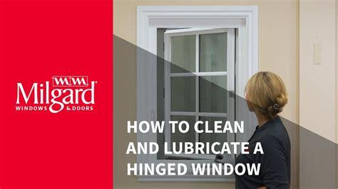 clean  hinged window  lubricate hardware youtube