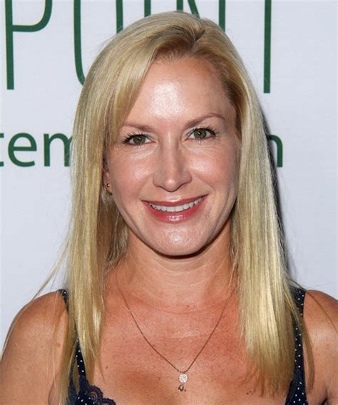 Angela Kinsey Long Straight Casual <a href=