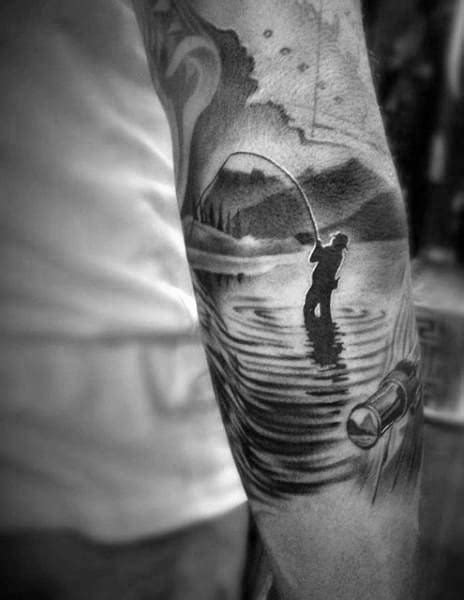 50 River Tattoos For Men - Flowing Water Ink Ideas