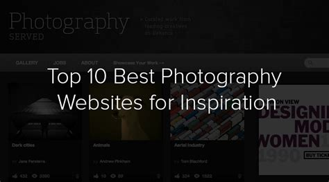 top   photography websites  inspiration filtergrade