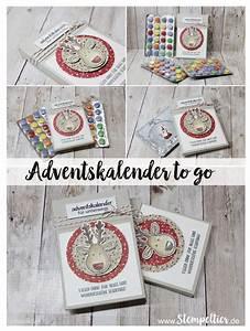 Adventskalender To Go Basteln : adventskalender to go stampin up anleitung blog weihnachten schokolinsen ausgestochen ~ Orissabook.com Haus und Dekorationen