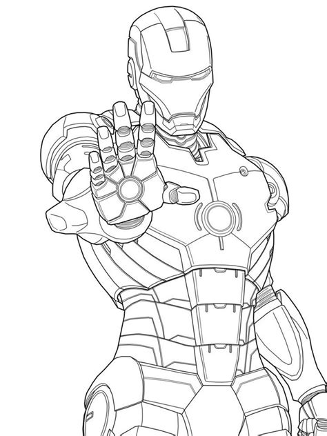Iron Ma Kleurplaat by Ironman Coloring Pages To Print Enjoy Coloring Free