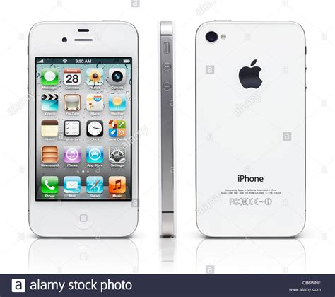 iphone 4s front white iphone 4s apple smartphone shown from three sides