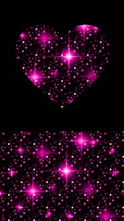 Pink Wallpapers Heart Glitter Backgrounds Background Iphone