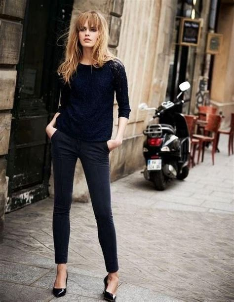 25+ Best Ideas about Black Cigarette Pants on Pinterest   Loafers outfit Layering clothes and ...