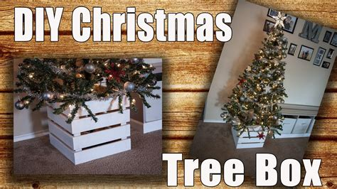 building a xmas tree box diy wooden tree collar box tree skirt alternative 5 project