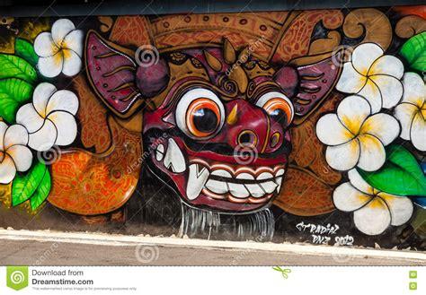 Grafiti Indonesia : Hindu Symbolism In Street Art Graffiti Editorial Photo