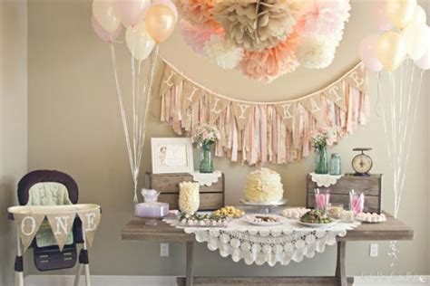 deco table anniversaire 1 an shady style shabby chic
