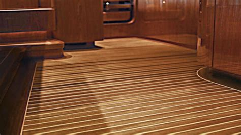 maritime cabin sole flooring custom yacht interior solid teak flooring teak tables