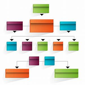 3d Corporate Organizational Chart Icon Stock Vector