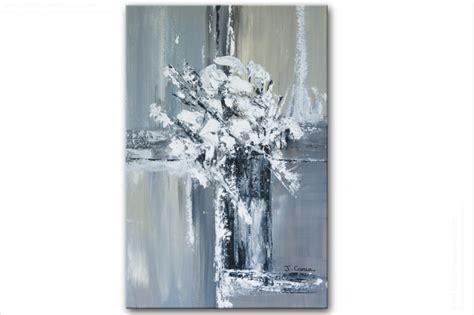 decoration chambre taupe tableau moderne vertical gris blanc noir pièce unique