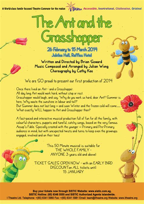 the ant and the grasshopper musical singapore