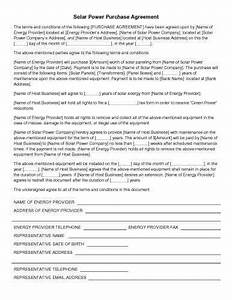 31 sample agreement templates in microsoft word With solar power purchase agreement template