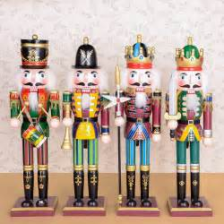 free shipping hot sale 30cm nutcracker wood christmas ornaments pure manual coloured drawing