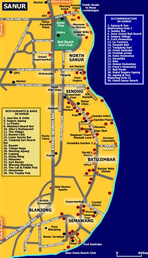 map  sanur bali blog