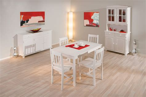 table et 4 chaises table et 4 chaises contemporain en pin massif blanc