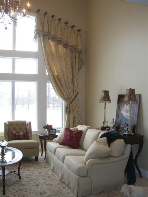 window treatments  arched windows living room