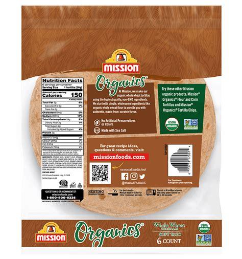 organic  wheat tortillas mission foods