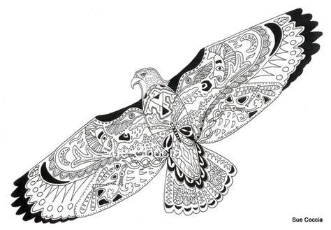 zentangle animals hawk zentangledoddle animals