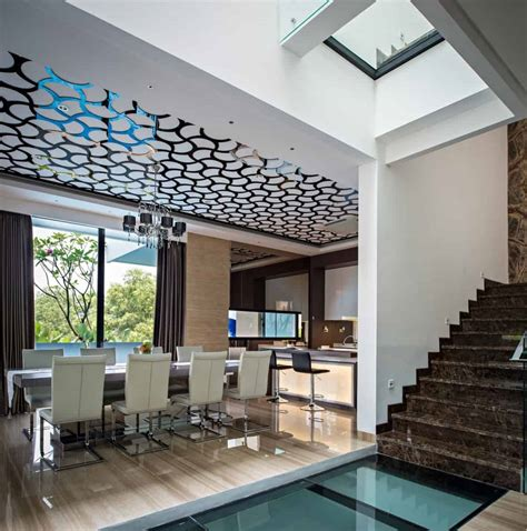house  creative ceilings  glass floors