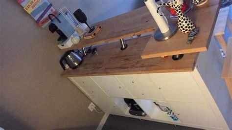 plan de travail ikea cuisine table de bar avec kallax bidouilles ikea