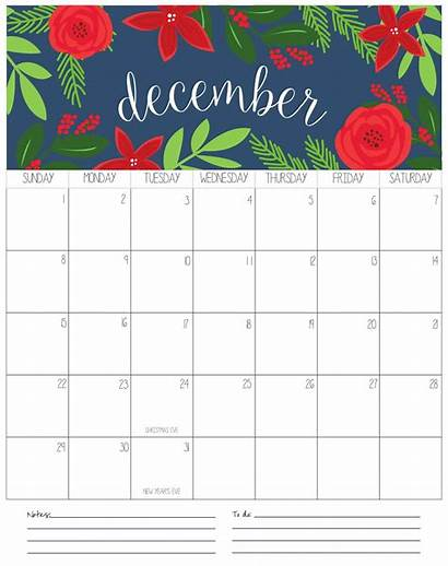 Calendar December Printable Holidays Calendars Template Notes