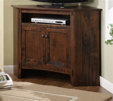 powell rustic corner tv stand 634 954 homelement