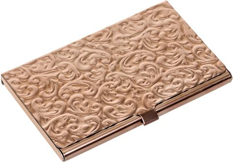 Metal Damask Embossed Business Card Case Rose Gold Tone Folded Business Cards Uk Rbs Online Login Hvac In Staples Ireland Size Of Cm Paper Unique Free Download