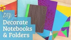 DIY Back to School Notebook & Folder Decoration Sea