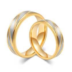 steel wedding rings aliexpress buy fashion wedding rings 18k gold plated rings stainless steel