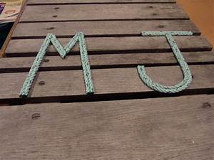 nursery decor nautical rope letters 8 inch letters personalize With rope letters for nursery