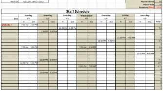 Employee Sign In Sheet Template Staff Calendar Templates Print Blank Calendars